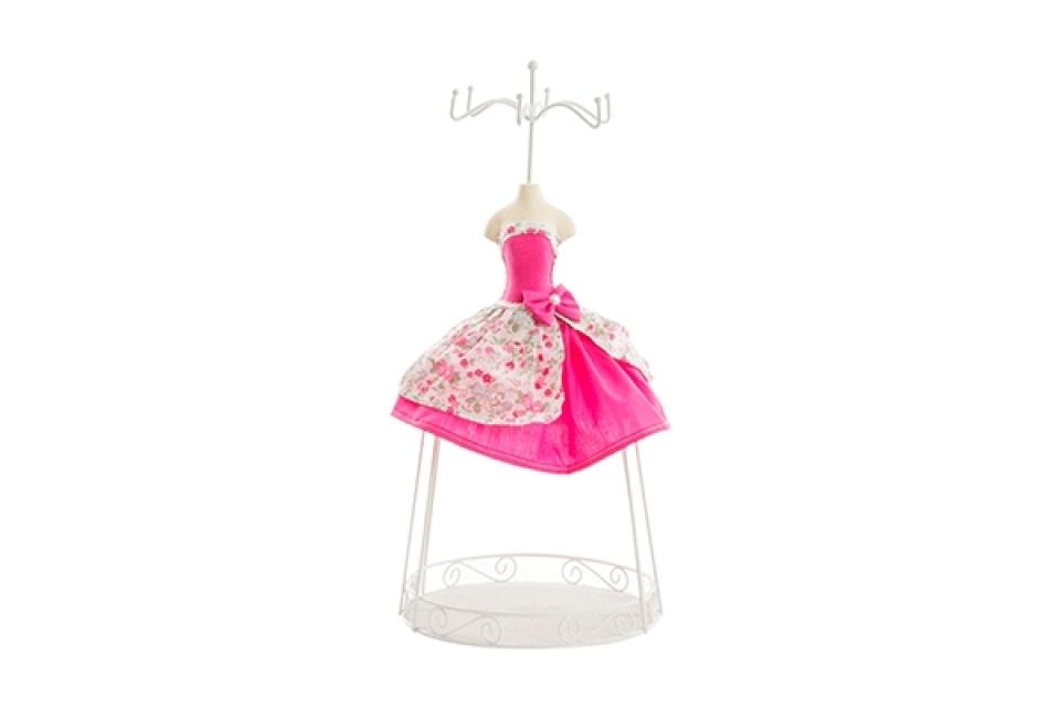 Držač nakita pink cvetna haljina  18x39