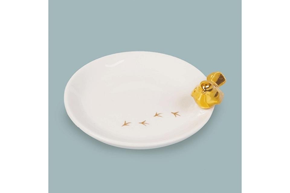 Držač nakita sa zlatnom pticom