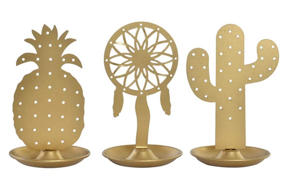 Držač nakita tropical gold 8,7x7,7x13 3  modela
