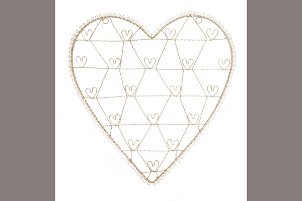 Držač nakita u obliku srca
