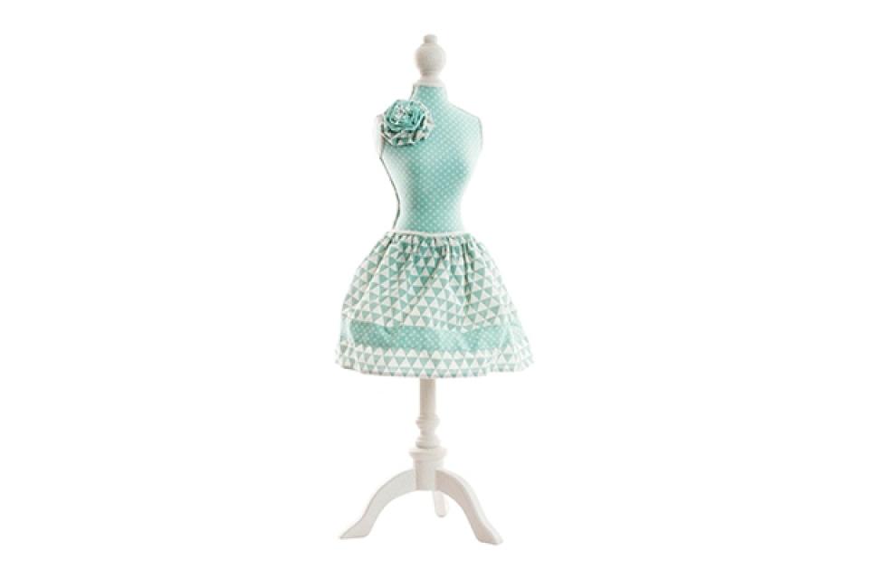 Držač nakita zelena haljina sa ružom 23x20x71