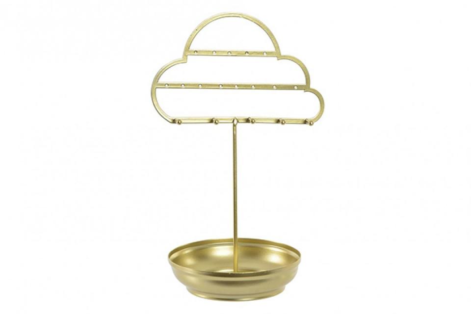 Držač nakita zlatni oblak 16x12x25