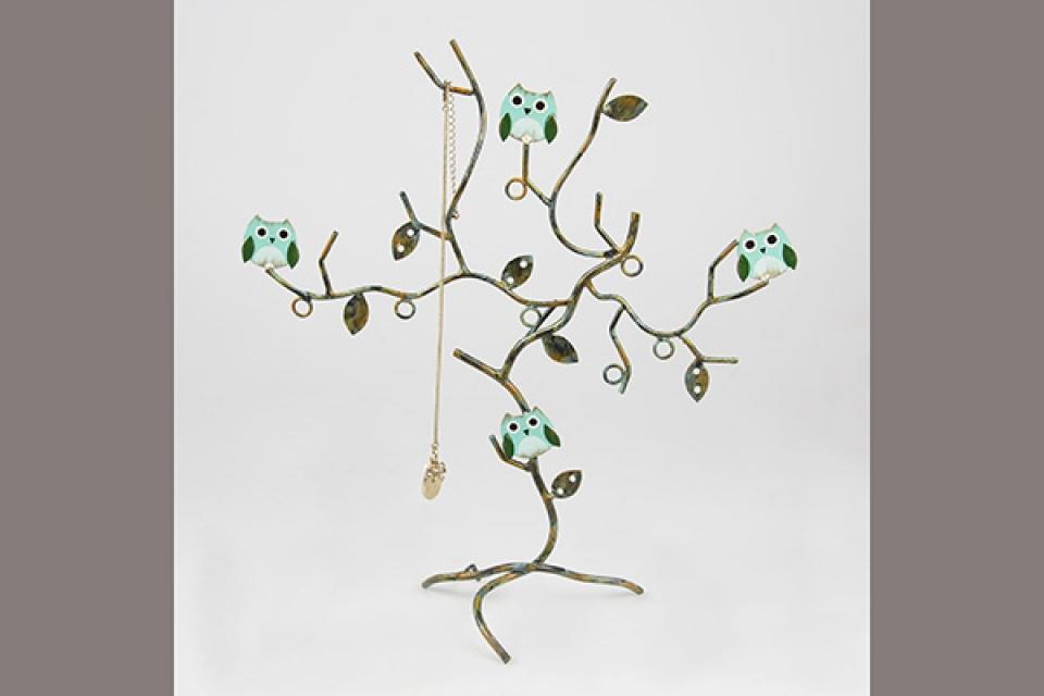 Držač nakita drvo/metal