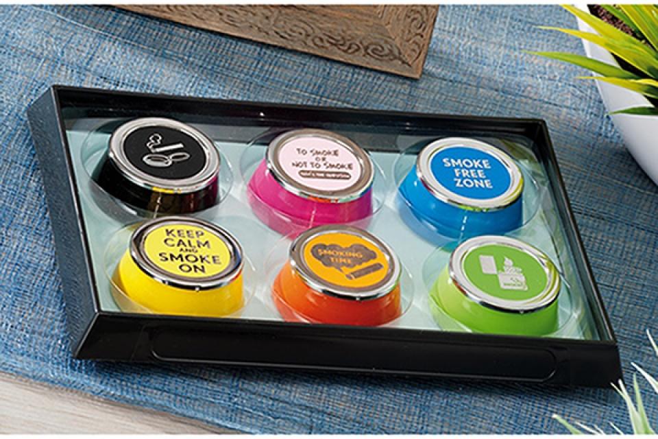 Džepna pepeljara u boji 6 x 3 6 modela
