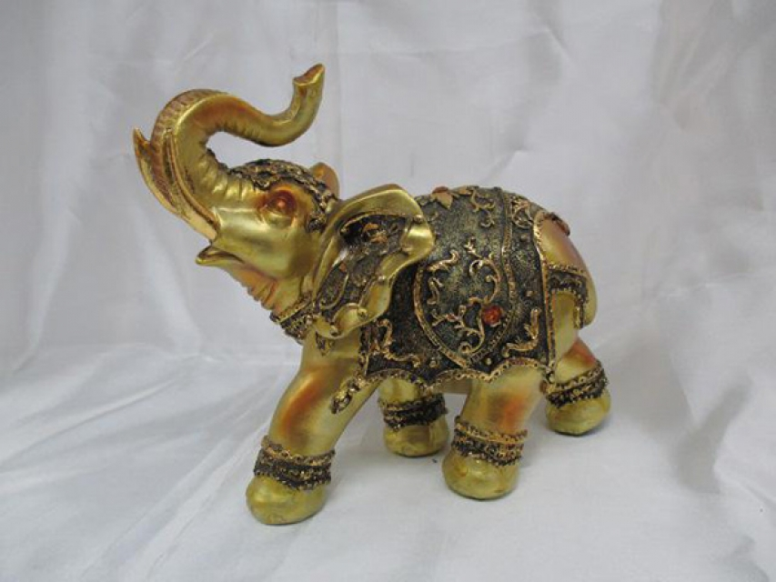 Figura  elephant golden 20,9x11,7x18