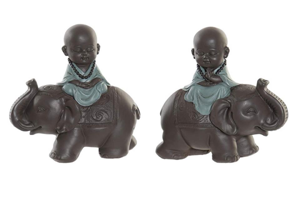 Figura  monk elephant 13x6x12,5 2 modela
