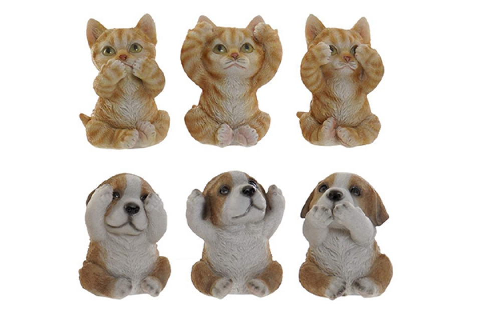 Figura cat dog 6,5x6x8 6 modela