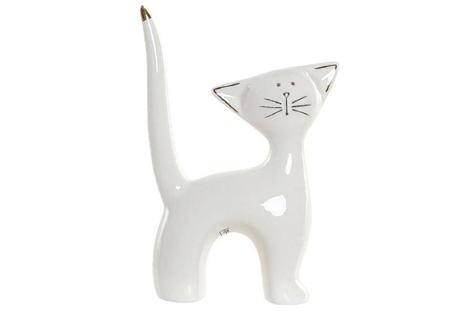 Figura cat white 10x4x14