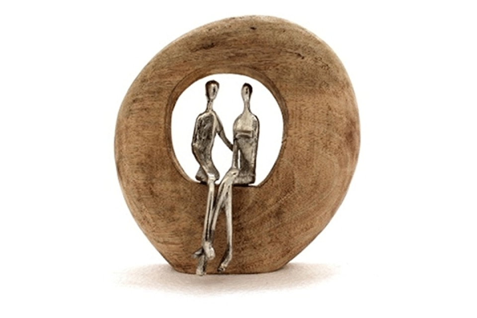 Figura couple natural 23x7x25