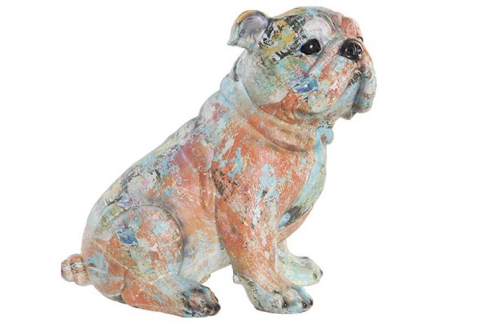 Figura dog multicolored 24x18x22