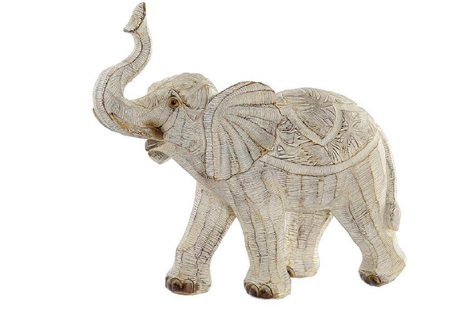 Figura elephant beige 27x12x24,5