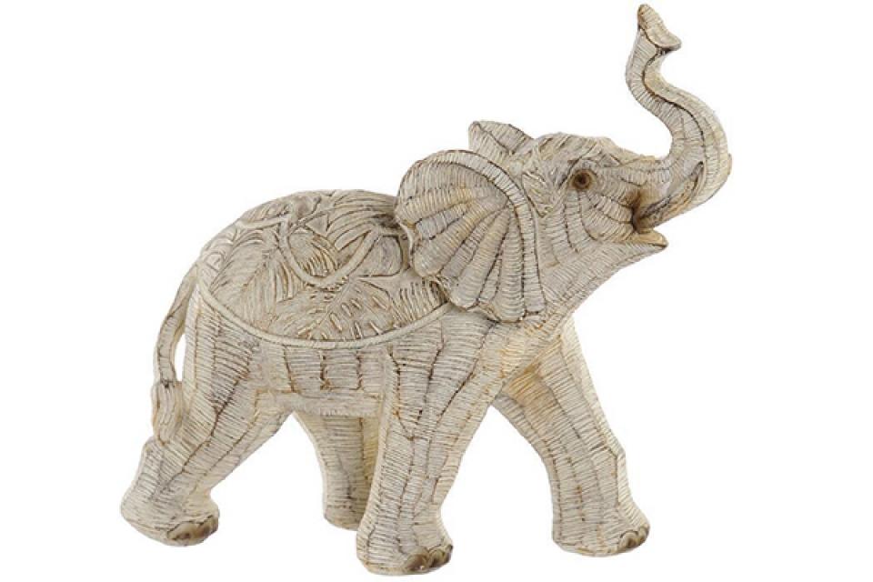 Figura elephant decape beige ii 19x8x18