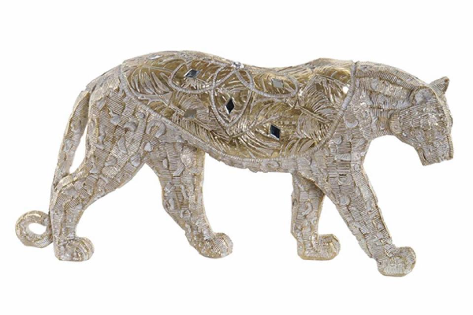 Figura leopard golden 31,5x6x15,5