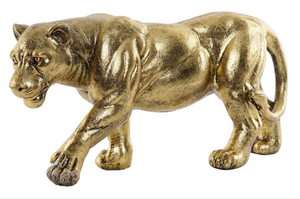 Figura lion golden 39,5x11,5x19