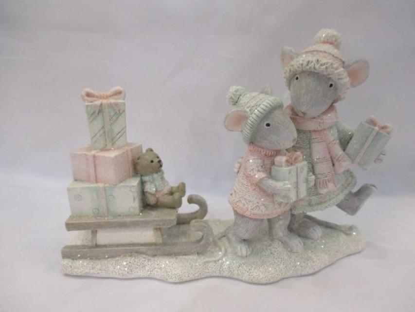 Figura mice pink 16x6x11