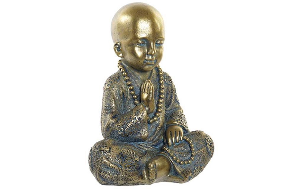 Figura monk golden 17x13,6x21,8