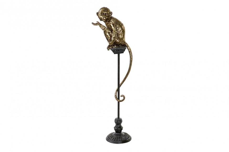 Figura monkey aged golden 32x21x105
