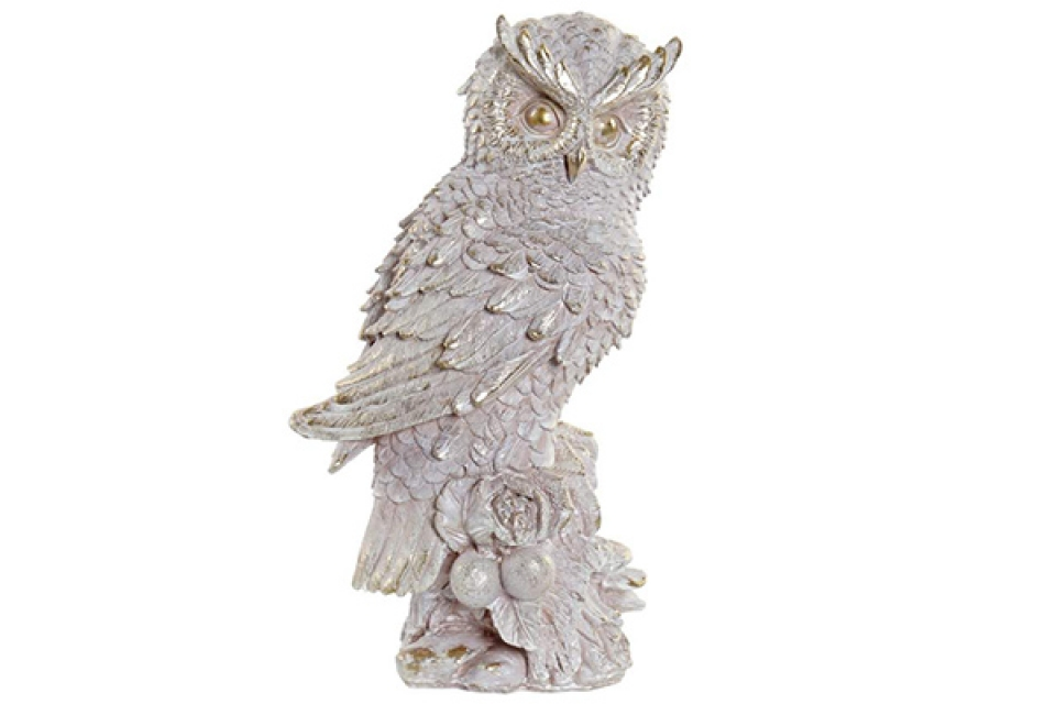 Figura owl pink 17x12,5x29,5