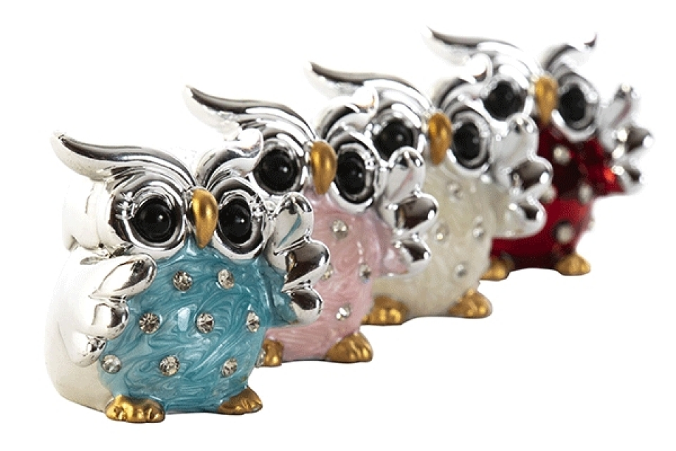 Figura owl sparkly 4,5x4x4,5 4 modela