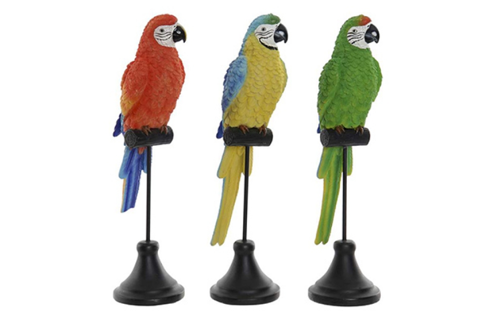 Figura papagaj u boji 9,5x8x32 3 modela