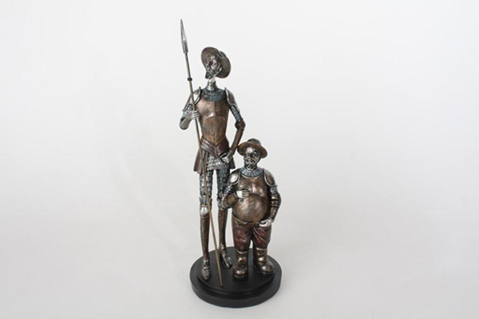 Figura quixote metallic 14x14x37