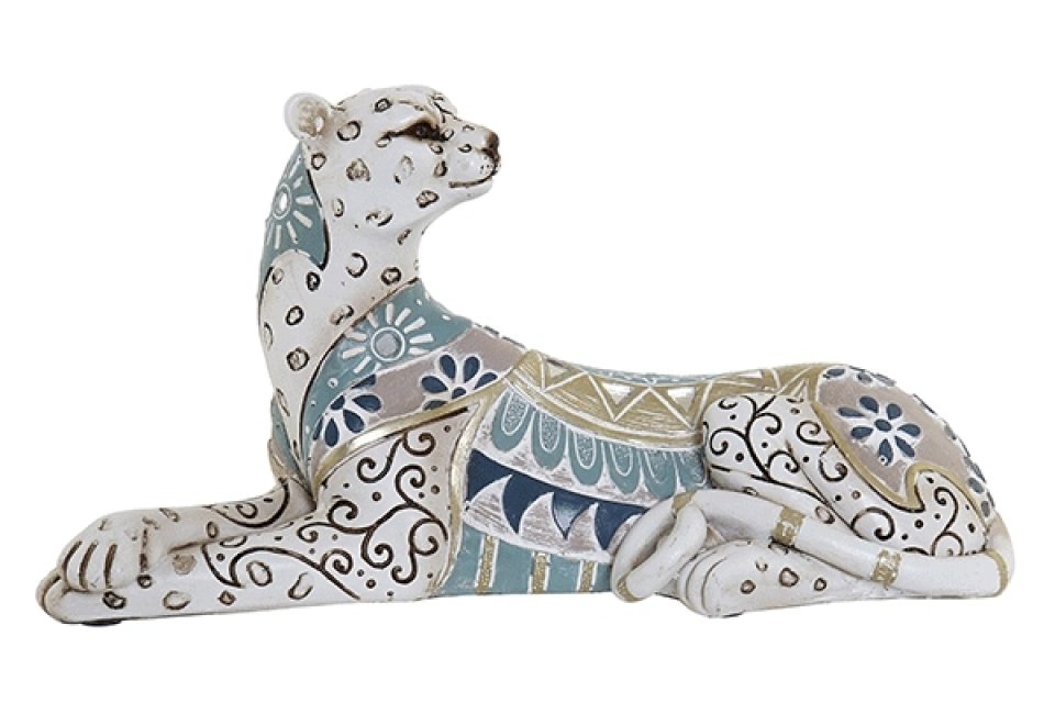 Figura šareni leopard 24x9,5x13