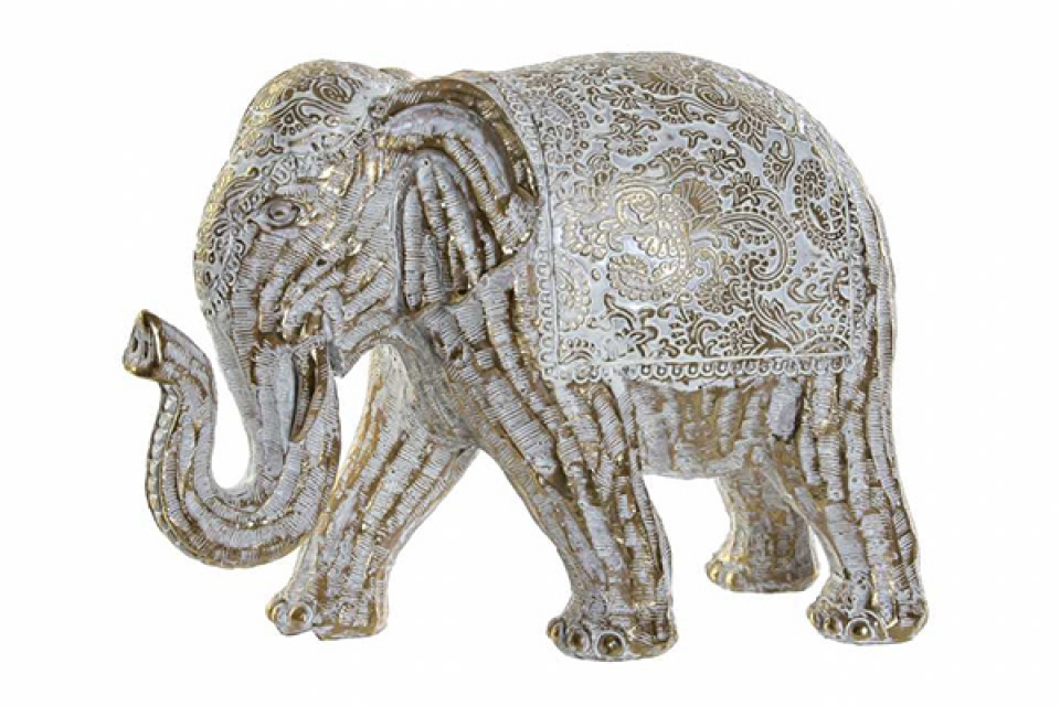 Figura slon zlatni 20x9x14