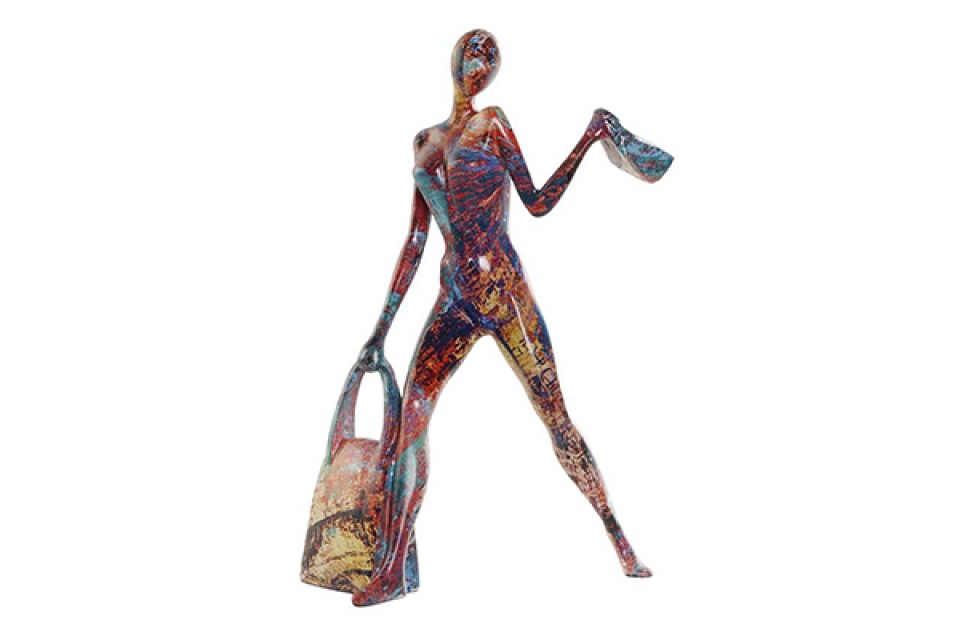 Figura woman multicolored 18x10x27