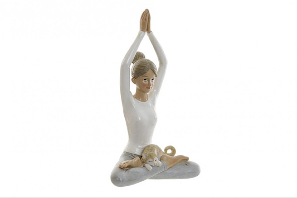 Figura yoga white 10x6x17