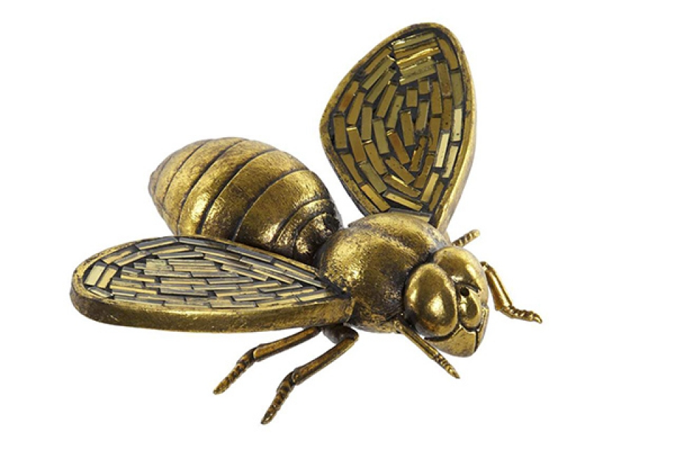 Figura zlatna pčela 16x13x5