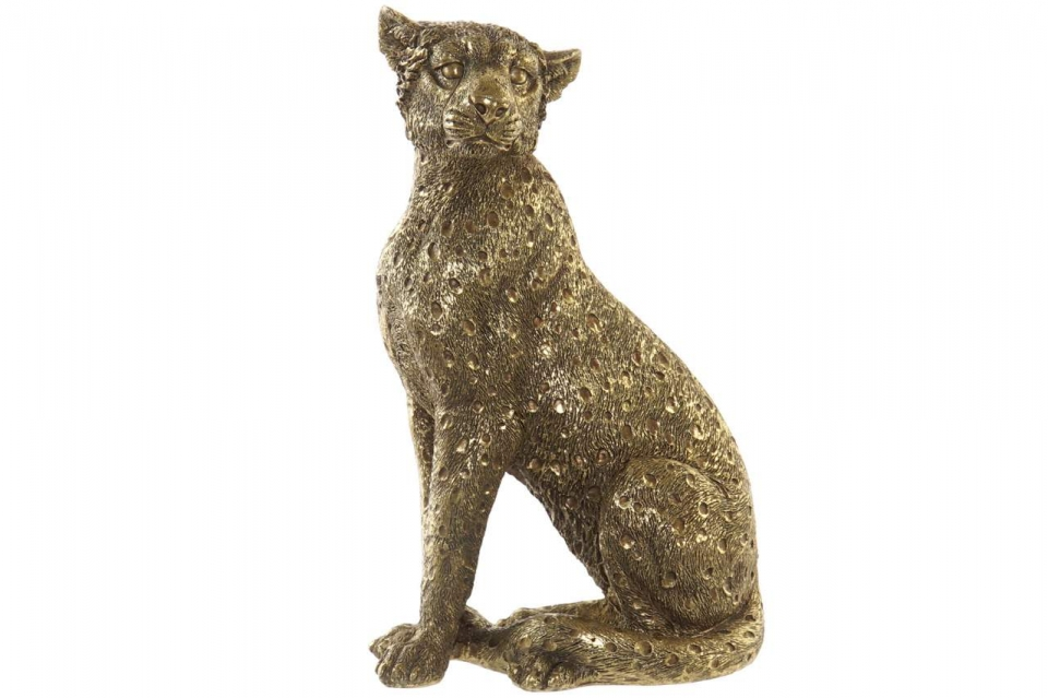 Figura zlatni leopard 14x11x26 0,4