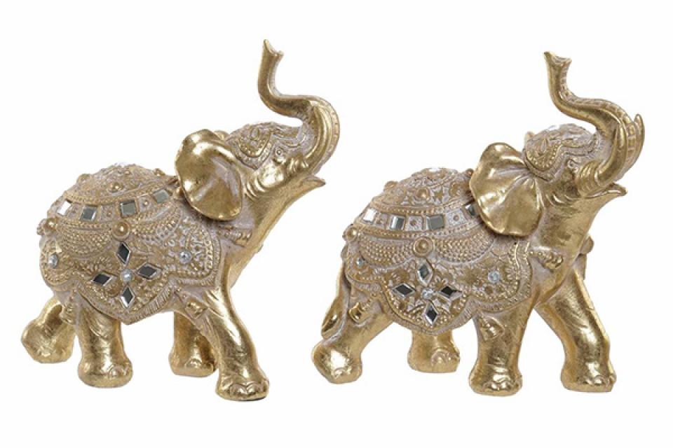 Figura zlatni slon 12x6x13 2 modela