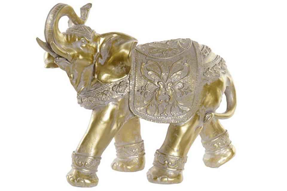 Figura zlatni slon / rezin 35x14,5x28,5