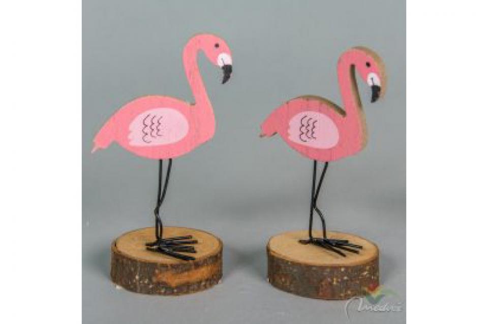 Flamingos dekoracija 15 cm
