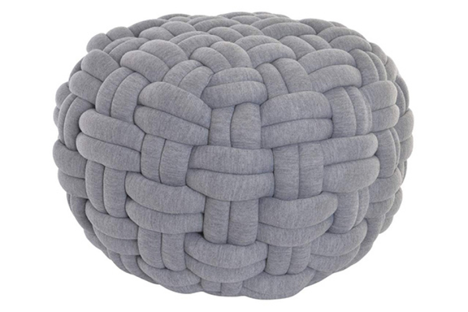 Floor cushion polyester foam 57x34 braided grey