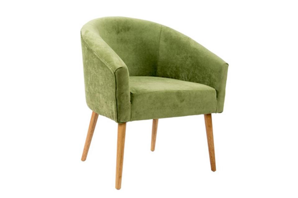 Fotelja drvena zelena