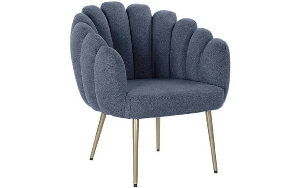 Fotelja plava školjka 67x64x77
