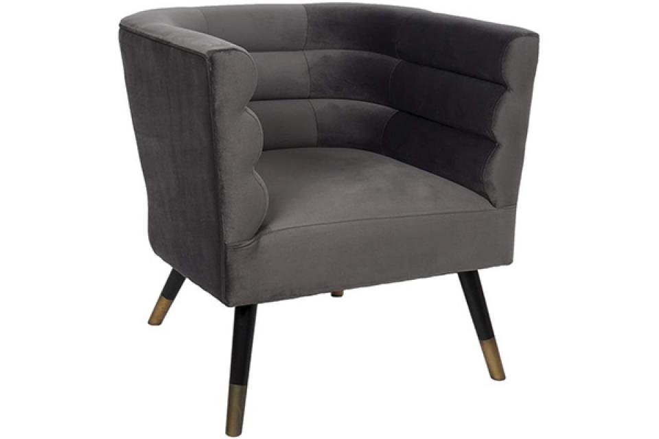 Fotelja velvet grey 74x71x71