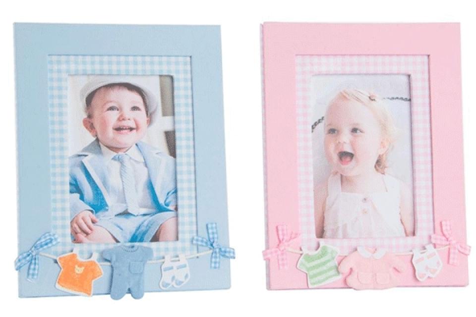 Foto ram za bebe mašnice 10x16 2 boje