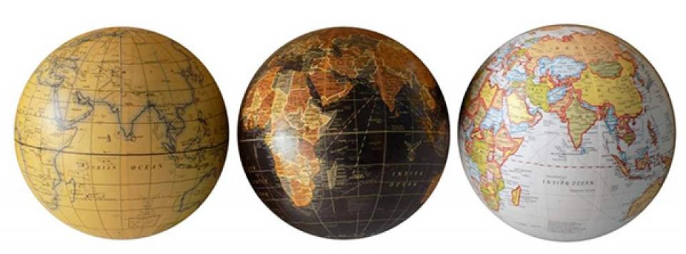 Globus world map 13x13 3 modela