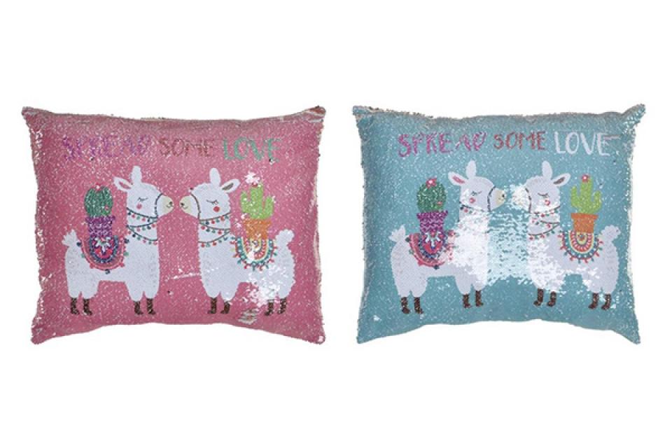 Jastuk lama sa šljokicama 50x40 450 gr 2 boje