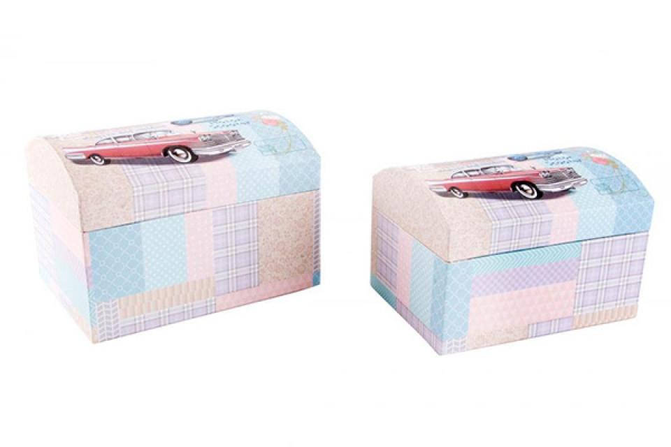 Karirane kutije za nakit 20x15x14