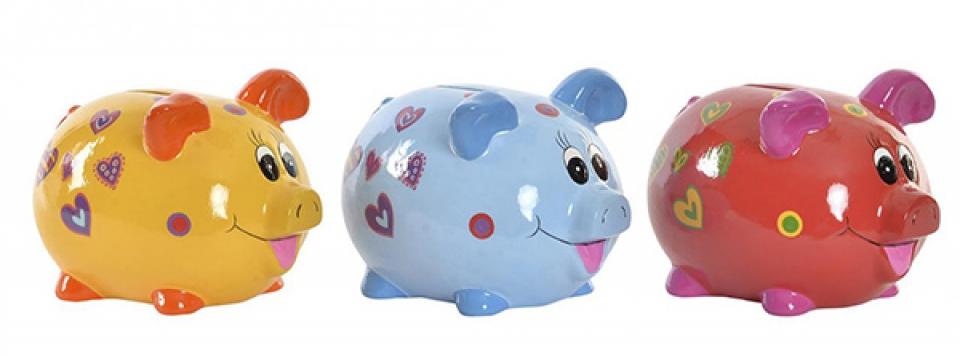 Kasica little pig u boji 15,3x12x13,8 3 modela