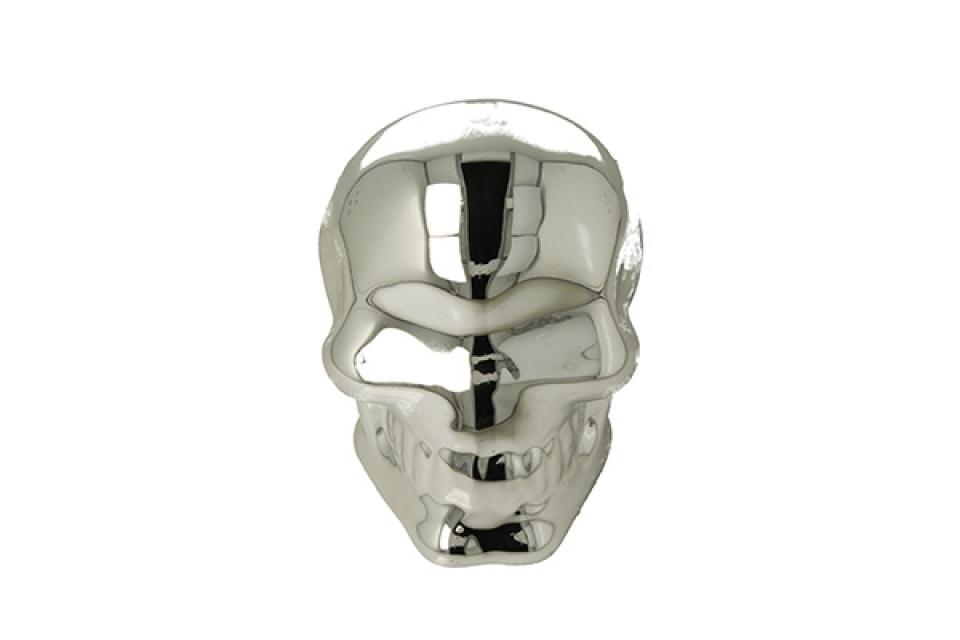 Kasica silver skull 10 cm