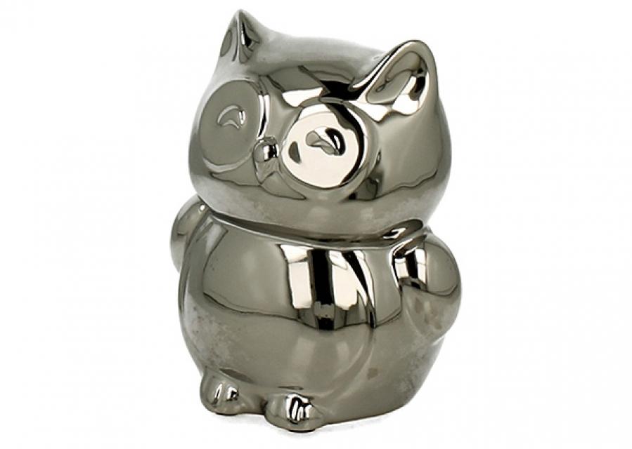 Kasica srebrna sova 10,5 cm