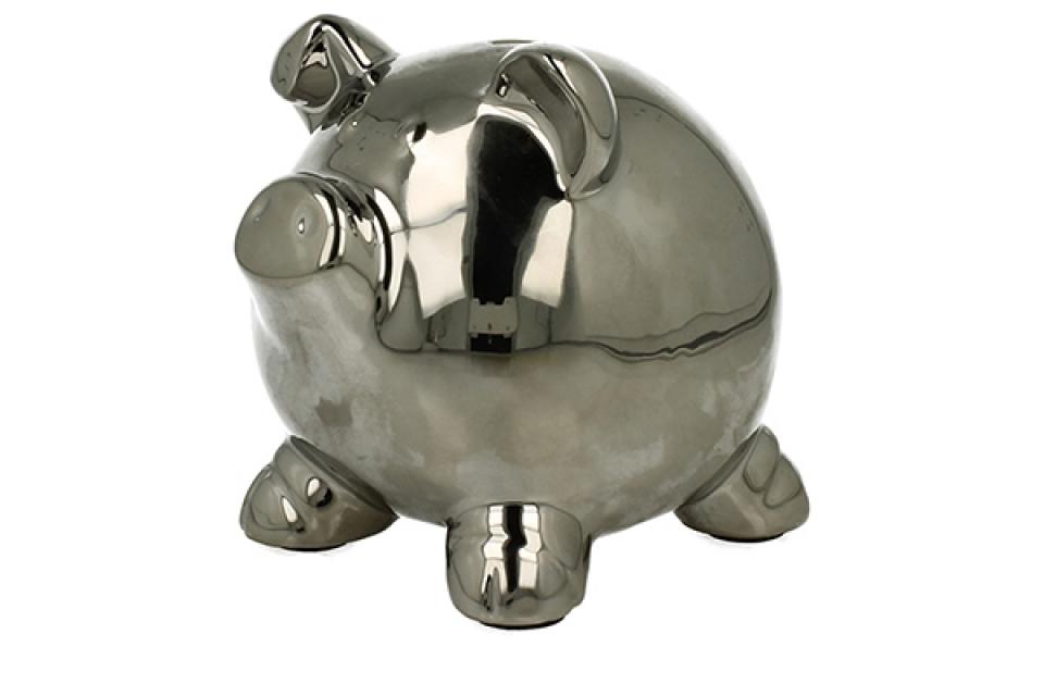 Kasica srebrno prase 11 cm