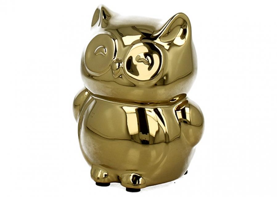 Kasica zlatna sova 10,5 cm