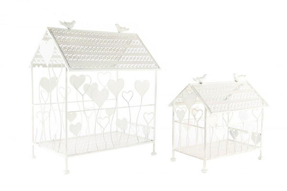 Kavezi oblik kuća sa srcima set/2 40x30x51