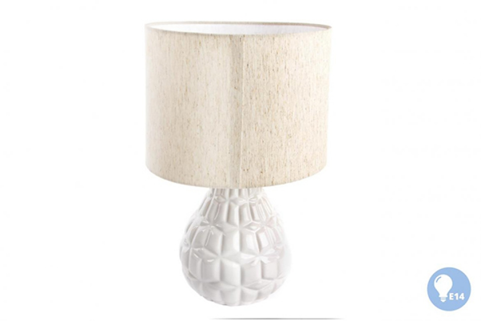 Keramička lampa sa belim postoljem 25x38