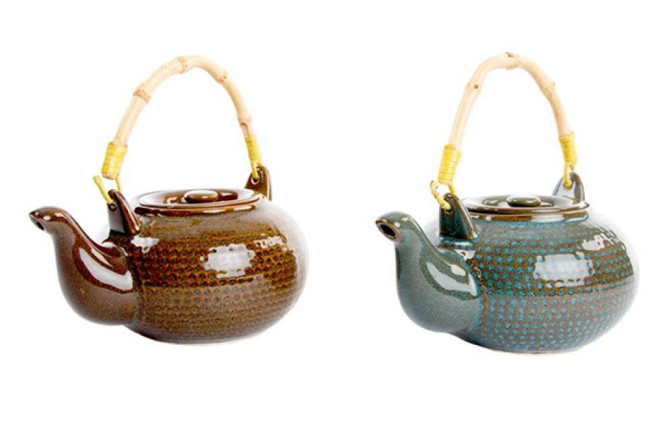 Keramički čajnik u boji 18x14x9 550ml 2 modela